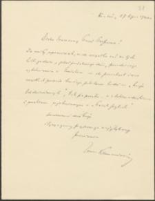 [List Zenona Klemensiewicza do Józefa Wiśniowskiego, 17.07.1940]