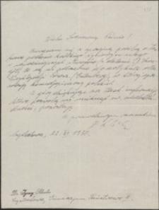 [List Ignacego Schreibera do Józefa Wiśniowskiego, 22.11.1930]