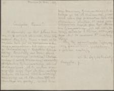 [List Antoniego Sygietyńskiego do Józefa Wiśniowskiego, 24.09.1911]