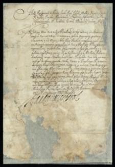 [Wezwanie skierowane do Karola Franciszka Korniakta dotyczące pospolitego ruszenia przeciwko Szwedom]