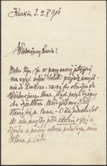 [List Lucjana Rydla do Józefa Wiśniowskiego, 02.05.1906]