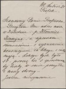 [List Natalii Lubomirskiej do Józefa Wiśniowskiego]