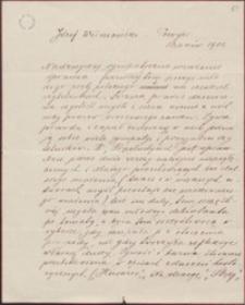 [List Pauliny Maternowej do Józefa Wiśniowskiego, 1901]