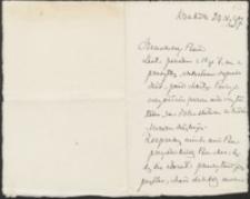 [List Stanisława Tarnowskiego do Józefa Wiśniowskiego, 23.05.1907]