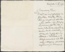 [List Stanisława Tarnowskiego do Józefa Wiśniowskiego, 06.03.1912]