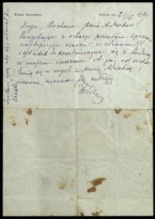 [List Wandy Siemaszkowej do p. Aruchno, 21.12.1944]