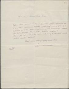 [List Antoniego Mazanowskiego do Józefa Wiśniowskiego, 14.04.1914]