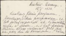 [List S. Potockiego do Józefa Wiśniowskiego, 15.01.1934]