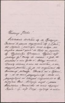 [List Henryka Rydzyny do Józefa Wiśniowskiego]