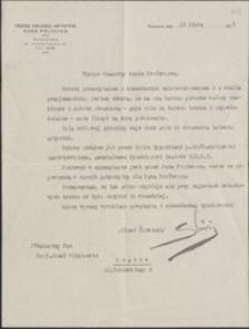 [List Józefa Śliwickiego do Józefa Wiśniowskiego, 15.02.1939]