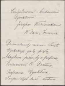 [List Józefa Korwin-Łuczyńskiego do Józefa Wiśniowskiego, 19.03.1919]