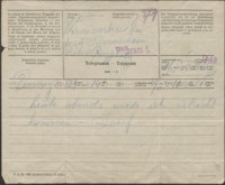 [Telegram O. Regtta do Józefa Wiśniowskiego. 19.08.1915]