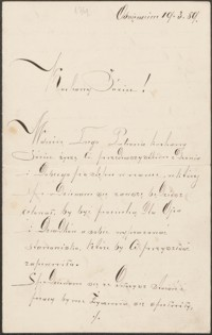 [List [Stanisławy] do Józefa Wiśniowskiego, 19.03.1889]