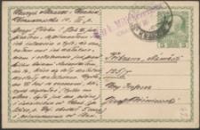 [Kartka pocztowa Henryka Mauzera do Józefa Wiśniowskiego, 01.06.1915]