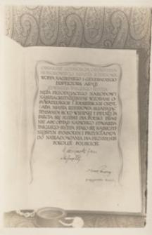 [Księga z uroczytości nadania przez Radę Miasta Rzeszowa Edwardowi Rydzowi-Śmigłemu tytułu Honorowego Obywatela Miasta Rzeszowa. Cz. 2] [Pocztówka]