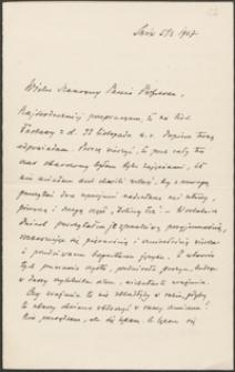 [List Adama Krechowieckiego do Józefa Wiśniowskiego, 05.03.1907]