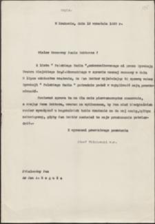 [List Józefa Wiśniowskiego do Jana Reguły, 13.09.1938]