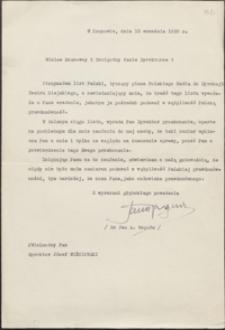 [List Jana Reguły do Józefa Wiśniowskiego, 13.09.1938]