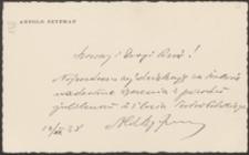 [List Arnolda Szyfmana do Józefa Wiśniowskiego, 14.06.1938]