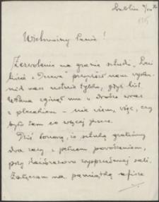 [List Władysława Wąsowicza do Józefa Wiśniowskiego, 04.10.1916]