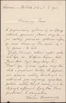 [List Wacława Sieroszewskiego do Józefa Wiśniowskiego, 02.01.1905]