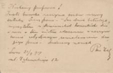 [List Romana Żelazowskiego do Józefa Wiśniowskiego, 21.08.1917]