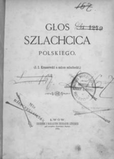 Głos szlachcica polskiego : (J. I. Kraszewski a zakon szlachecki)