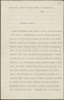 [List Andrzeja Niemojewskiego do Józefa Wiśniowskiego, 07.02.1902]