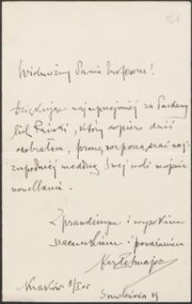 [List Kazimierza Przerwy-Tetmajera do Józefa Wiśniowskiego, 08.01.1905]