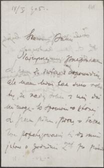 [List Adama Szymańskiego do Józefa Wiśniowskiego, 17.05.1905]