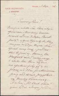 [List Józefa Kotarbińskiego do Józefa Wiśniowskiego, 02.05.1916]