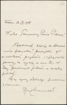 [List nieznanego nadawcy do rąk Józefa Wiśniowskiego, 12.09.1925]