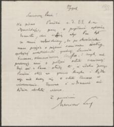 [List nieznanego nadawcy do rąk Józefa Wiśniowskiego, 24.05.1906]