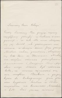 [List Stefana Żeromskiego do Józefa Wiśniowskiego, 21.11.1903]