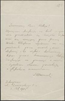 [List Stefana Żeromskiego do Józefa Wiśniowskiego, 12.01.1905]