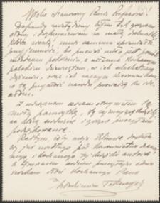 [Kartka pocztowa Włodzimierza Przerwy-Tetmajera do Józefa Wiśniowskiego, 27.05.1911]