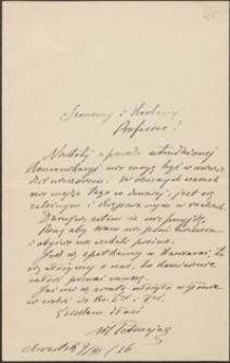 [List Włodzimierza Przerwy-Tetmajera do Józefa Wiśniowskiego, 09.03.1916]