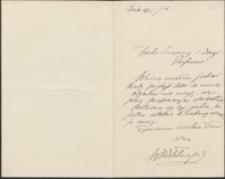 [List Włodzimierza Przerwy-Tetmajera do Józefa Wiśniowskiego, 12.04.1916]