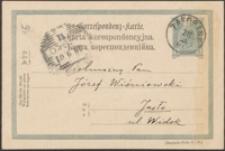 [Kartka pocztowa Piotra Chmielowskiego do Józefa Wiśniowskiego, 29.09.1901]