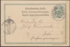 [Kartka pocztowa Piotra Chmielowskiego do Józefa Wiśniowskiego, 01.05.1903]