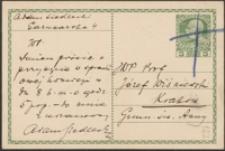 [Kartka pocztowa Adama Siedleckiego do Józefa Wiśniowskiego, 08.07.1908]