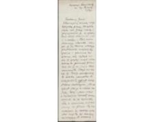 [List Adama Siedleckiego do Józefa Wiśniowskiego, 29.01.1939]