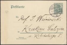 [Kartka pocztowa Aleksandra Brücknera do Józefa Wiśniowskiego, 04.01.1907]
