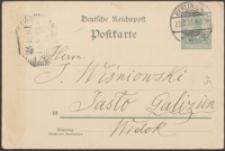 [Kartka pocztowa Aleksandra Brücknera do Józefa Wiśniowskiego, 23.12.1901]