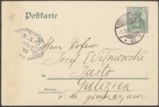 [Kartka pocztowa Aleksandra Brücknera do Józefa Wiśniowskiego, 01.03.1903]