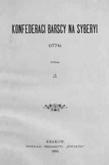 Konfederaci barscy na Syberyi (1774)