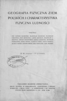 Geografia fizyczna ziem polskich i charakterystyka fizyczna ludności