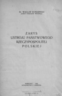 Zarys ustroju państwowego Rzeczypospolitej Polskiej