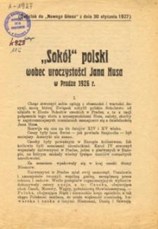 """""""Sokół"""" polski wobec uroczystości Jana Husa w Pradze 1926 r."""