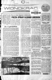 Widnokrąg : tygodnik kulturalny. 1961, nr 1 (1 października)